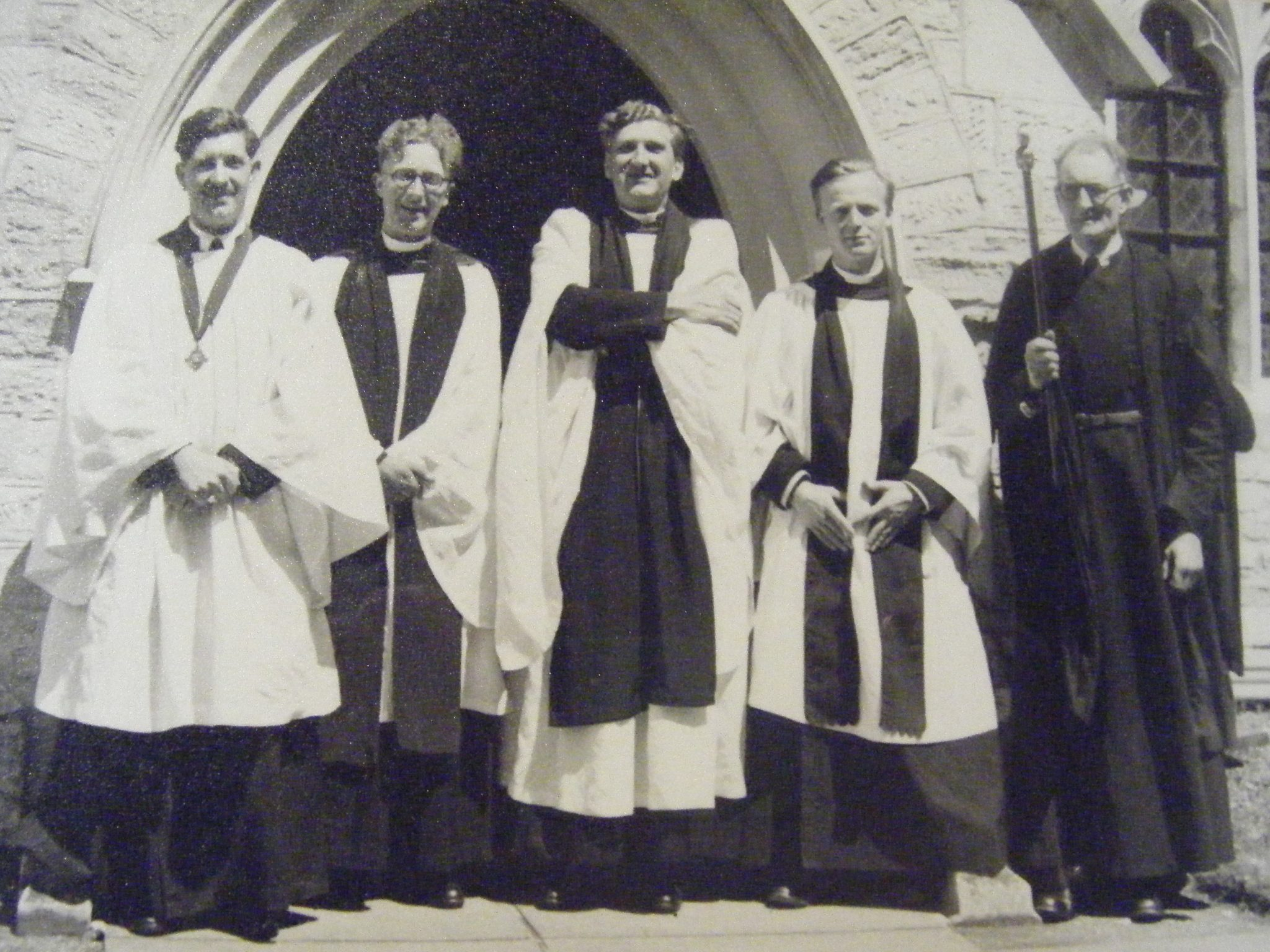 Photograph of Highfield Church clergy taken June 1955